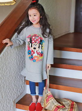 """<font color=#4bb999>* JKIDS 2017 S / S *</font> <br>サンプリングミニワンピース<br> <font color=""""#9f9f9f"""">♡素敵な裾フリル♡ <br>かわいいミニプリント!</font>"""