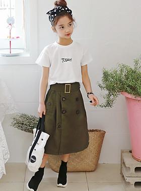 """マックストレンチスカート<br> <font color=""""#9f9f9f"""">♡洗練されたスポーティなスカート♡ <br>ベルチドゥタイプスカート!</font>"""
