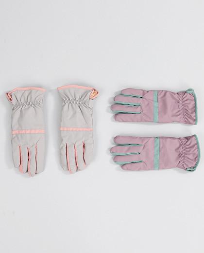 リン配色パディング手袋