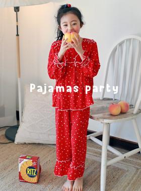 ドットフリルパジャマ上下SET