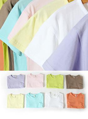 詠ポケット半袖Tシャツ